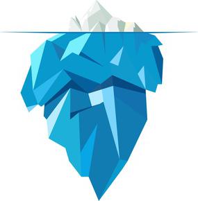 De ijsberg staat symbool voor het bewuste ten opzichte van het onderbewuste